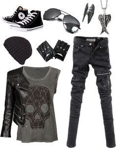 This outfit selection is more of what my magazine would be offering to someone who has an interest in Emo/Goth/punk style.