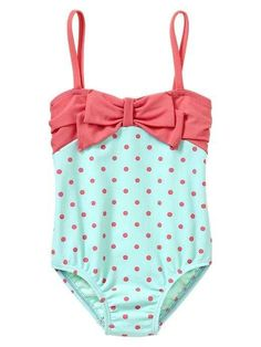 Baby Gap Spring Break Bow Polka Dot One Piece Swimsuit 12 18 24 2 3 4 5 1pc | eBay
