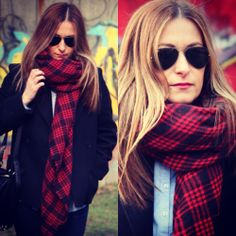 Red Tartan Scarf #tartanscarf #skinnyjeans #casual #streetstyle #winterlook #fashionblogger #mystyle #mylook #style #fashion #ootd #outfit