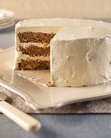 Use this brown sugar buttercream on our Triple-Layer Apple Cake. If the mixture seems to have separated after all the butter is incorporated, beat on medium-high until smooth. Reduce speed to low; beat 3 minutes more.