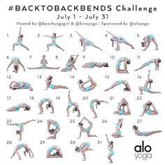 Announcing the July Yoga Challenge! #BacktoBackbends Hosts: @beachyogagirl & @kinoyoga Sponsor: @aloyoga We have designed next month's yoga challenge to help inspire you to become stronger and more flexible in your backbends! This challenge is meant to h