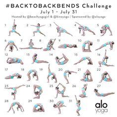 """Kino MacGregor on Instagram: """"Announcing the July Yoga Challenge! #BacktoBackbends Hosts: @beachyogagirl & @kinoyoga Sponsor: @aloyoga We have designed next month's…"""""""