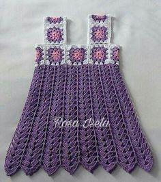 Crochet Dress Girl, Crochet Baby Dress Pattern, Baby Girl Dress Patterns, Black Crochet Dress, Crochet Skirts, Crochet Baby Clothes, Chevron Crochet Patterns, Baby Knitting Patterns, Crochet Designs