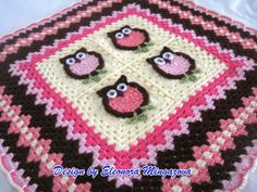 MADE TO ORDER Handmade Hand Crochet Owl blanket by mingazova, $55.00