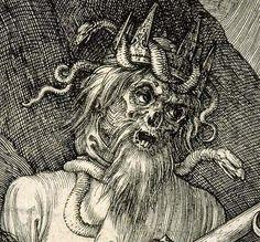 Albrecht Dürer, detail of larger engraving Knight Death and the Devil Hans Holbein, Great Works Of Art, Fantastic Art, Hans Baldung Grien, Renaissance, Albrecht Dürer, Dance Of Death, Danse Macabre, Italian Artist