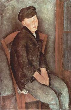 Amadeo Modigliani - Ragazzo seduto con cappello