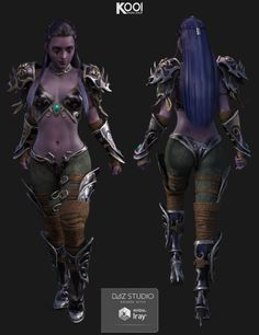Elf Armor Outfit for Genesis 3 Female(s)   3D Models for Poser and Daz Studio