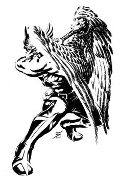 Hawkman | Ron Salas Dc Comics Art, Image Comics, Comic Books Art, Comic Art, Book Art, Hawkgirl, Vampire Hunter, New Gods, Black White Art