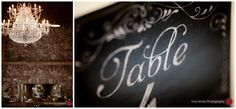 Chalk print table numbers