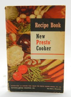 New Presto Cooker Recipe Book 1954 by QueeniesCollectibles on Etsy, $5.99
