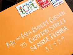 CALLIGRAPHY ENVELOPE ADDRESSING- love the font, not sure if I could write like this