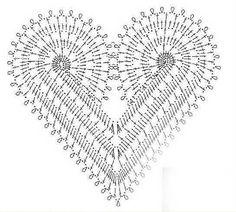 As Receitas de Crochê: Saída de praia de corações em crochê