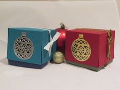 Ornament Window Gift Box, Video Tutorial using Stampin' Up Products - YouTube