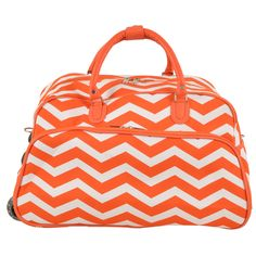 World Traveler ZigZag 22-inch Carry-on Rolling Duffle Bag (/White)