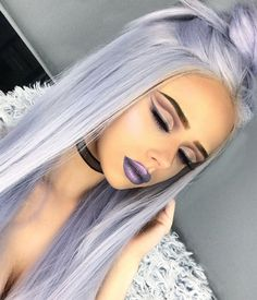Cloud Synthetic Lace Front Wig Cloud Synthetic Lace Front Perücke The post Cloud Synthetic Lace Front Perücke & Haare appeared first on Lilac hair . White Ombre Hair, Ombre Hair Color, Cool Hair Color, Pastel Hair Colors, Pastel Purple Hair, Lemy Beauty, Galaxy Hair, Frontal Hairstyles, Scene Hairstyles