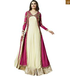 This floor length kameez modelled by Bollywood
