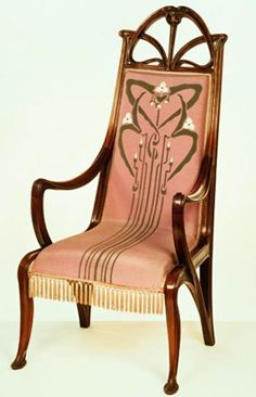 Beautiful Art Nouveau chair.