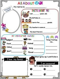 All About Me Poster for Back to School Activities – Education Posters Get To Know You Activities, All About Me Activities, First Day Of School Activities, 1st Day Of School, All About Me Preschool Theme, All About Me Poster, All About Me Book, All About Me Worksheet, Star Of The Week