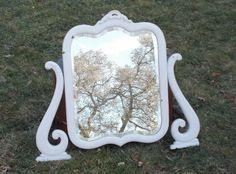 103 Year Old Antique Shabby Chic Dresser Mirror by ancientofdaze, $109.00