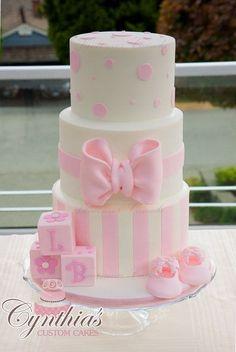 Resultado de imagem para pink and white cakes