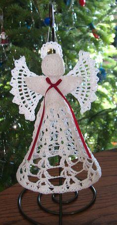 Craft Passions: Lora's Angel# Free # crochet pattern link here Crochet Ornaments, Christmas Crochet Patterns, Holiday Crochet, Crochet Snowflakes, Christmas Knitting, Crochet Pattern Central, Crochet Angel Pattern, Crochet Angels, Free Pattern