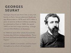 Slide 5 Georges Seurat, Rich Family, Military Academy, Art, Art Background, Kunst, Gcse Art