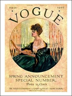 Vogue Spring Announcement Special Number Woman w Vanity Mirror February 21, 1907