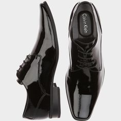 CALVIN KLEIN BRODIE BLACK TUXEDO SHOES from Men's Wearhouse.