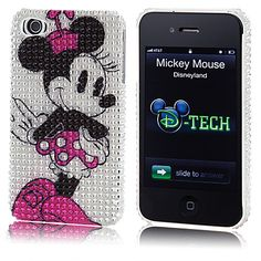 Bling Minnie Mouse iPhone 4 Case   Electronic Accessories   Disney Store