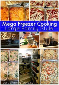 Mega Freezer Cooking. Large Family Recipes!