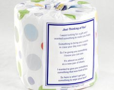 Teacher Appreciation Week Discover Just Thinking Of You Toilet Paper Card - Printable PDF Need a gift to show someone youre thinking about them? Want to raise someones spirit and make them smile? Gag Gifts, Cute Gifts, Funny Gifts, Prank Gifts, Funny Christmas Cards, Christmas Humor, Christmas Gifts, Christmas Ideas, Frugal Christmas