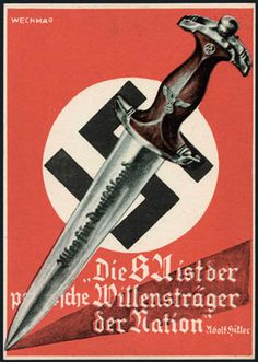 """✠ Storm Trooper dagger """"All for Germany"""" ✠"""