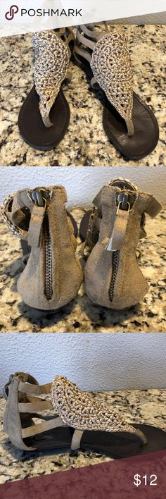 65d7112c6b4 Tan Candies sandals Adorable tan Candies sandals with zip up back. Good  used condition Candie s Shoes Sandals