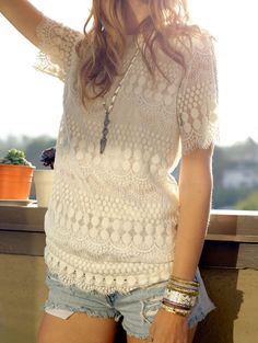 Lace+Crochet+Slim+White+Dress+17.67