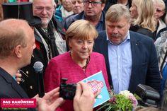 Tag des Handwerks in Stralsund 2013, Besuch der Bundeskanzlerin Angela Merkel auf dem Alten Markt. http://www.handwerk-rsn.de