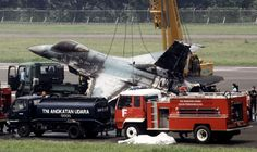 Indonesian fighter jet catches fire on runway, pilot jumps to safety