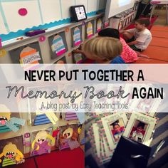memory book, memory books are so much work, easy way to make memory books, easy teaching tools