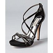 Badgley Mischka Sandals - Gelsey High Heel with Crystal Detail