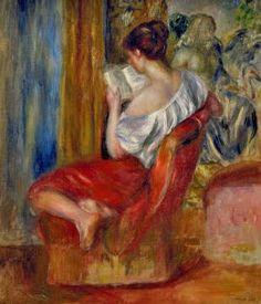 Pierre-Auguste Renoir - 'Woman Reading'
