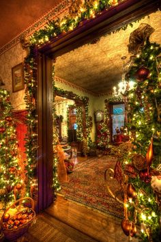 Classic Christmas ~My cousin Paul lived with his parents and grandparents as a youngster and we would go visit these rooms so reminded me of that home! I was about 4!