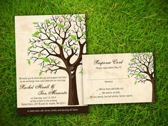 Wedding Invitation and RSVP Card Suite  by VintageBellsAndCo, $25.00