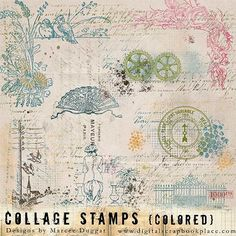 Collage Stamps Set 4 Colored [DL-MD-S-Collage4] - $2.99 : Digital Scrapbook Place, Inc. , High Quality Digital Scrapbook Graphics