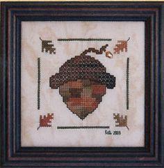 Acorn Хант (W / очарование) - вышивки крестом Pattern