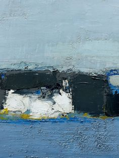 Nicolas de Staël contemporary abstract seascape , cliffs scandi style oil painting print