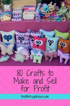 80 Crafts to Make and Sell 2019 Ever wonder if you could make any money selling crafts? Check out these 80 crafts to make and sell and you just might find the perfect crafty side job! The post 80 Crafts to Make and Sell 2019 appeared first on Fabric Diy. Money Making Crafts, Easy Crafts To Sell, Diy Projects To Sell, Crafts For Teens To Make, Sell Diy, Fun Crafts, Craft Projects, Sewing Projects, Crafts To Sew