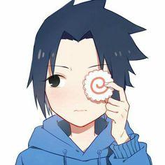 Uchiha Sasuke, cute, young, childhood, Naruto, food; Naruto