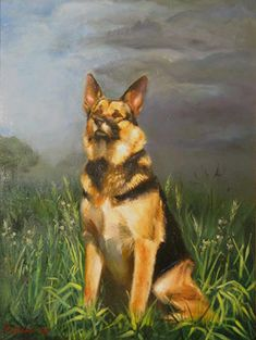 dog oil painting - Google Search
