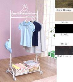 Vintage White Clothes Coat Garment Cloth Wardrobe Clothing Hanging Rail Rails Rack Racks Stand Decorative Shoes Storage Shelf Metal Shabby Chic free standing BANGDA http://www.amazon.co.uk/dp/B00DINSOTU/ref=cm_sw_r_pi_dp_FWs4tb1MKKFHT34J