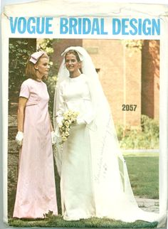 Vogue 2057 - Bridal Design - Brides A-Line Dress and Bridesmaids Dress in Day or Evening Length
