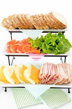 Sandwich bar and sandwich buffets perfect for any … Sandwich Party Station Ideas. Sandwich bar and sandwich buffets perfect for any party. Sandwich Buffet, Sandwich Station, Sandwich Platter, Party Platters, Buffet Party, Lunch Buffet, Food Buffet, Food Platters, Croissant Sandwich